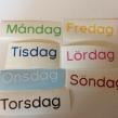 Veckodagar - Veckodagarna i pedagogiskt färgad text