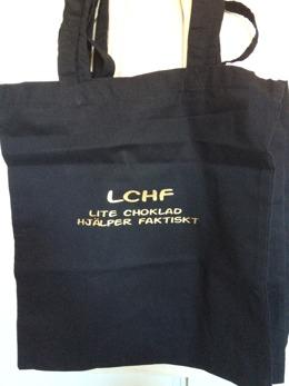 Tygkasse LCHF - Tygkasse LCHF med guld text