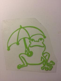 Groda med paraply