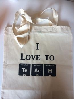 Tygkasse Love to teach -