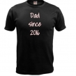 T-shirt Dad since - Svart XXXL
