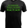 T-shirt No homework