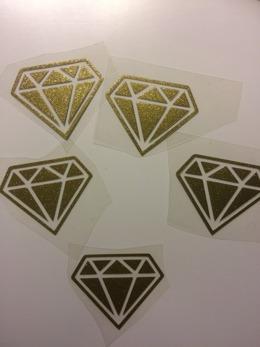 Diamant - Guldglittrig