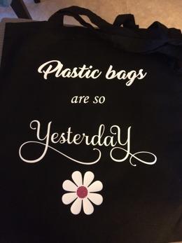 Tygkasse plastig bags