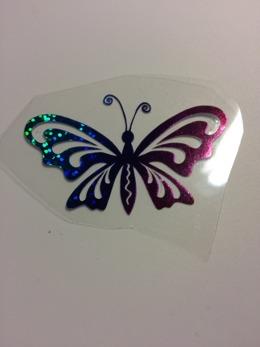 Fjäril 1 - Regnbågsfärgad