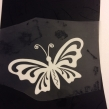 Fjäril 1 - Vit