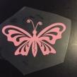 Fjäril 1 - Ljusrosa