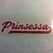 Prinsessa - Rosa glitter vit bakgrund