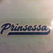 Prinsessa - Blå glitter vit bakgrund