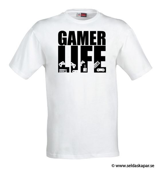 tshirt gamerlife svart