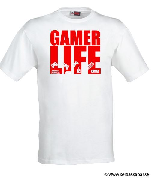 tshirt gamerlife röd