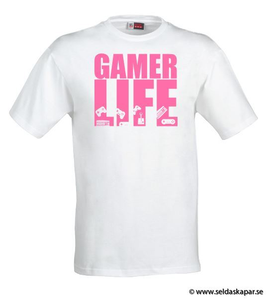 tshirt gamerlife rosa