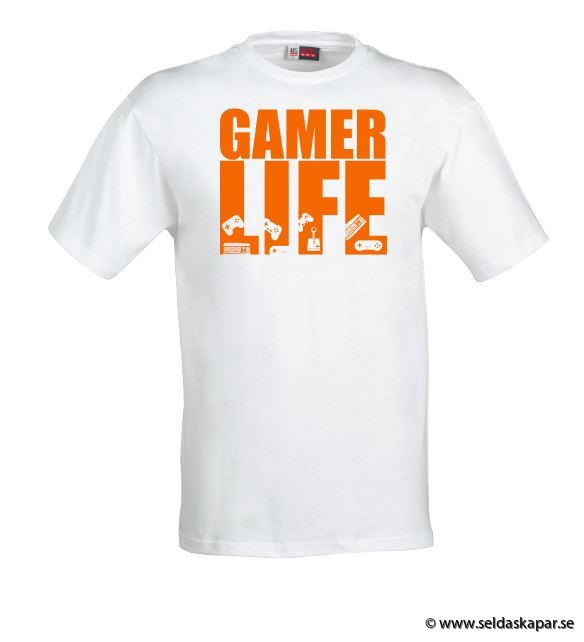 tshirt gamerlife orange