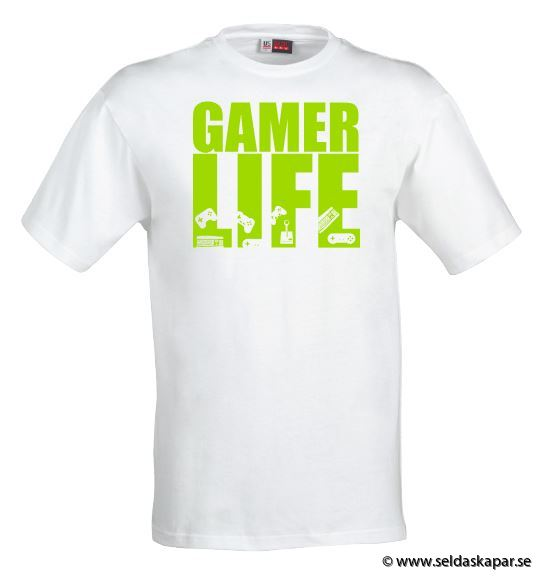 tshirt gamerlife grön