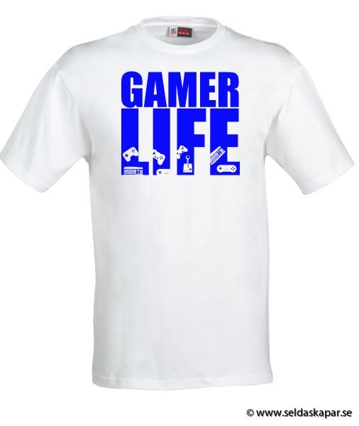 tshirt gamerlife blå