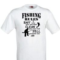 T-shirt fishing rules