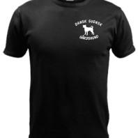 T-shirt dansk svensk gårdshund litet tryck