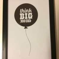 Poster Think big