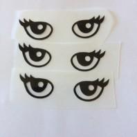 Ögonpar med fransar