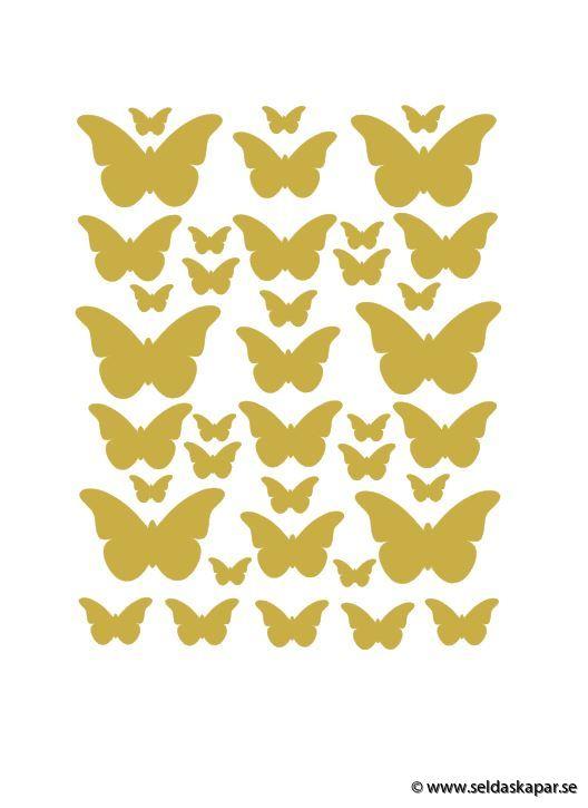 A4 fjärilar