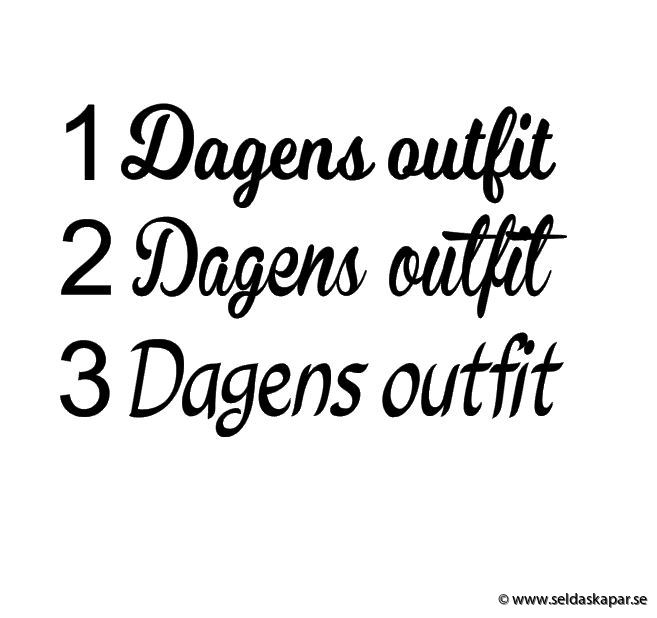 Dagens outfit till webbutiken