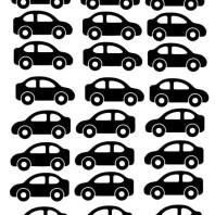 A4 med bilar