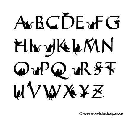 katt alfabet