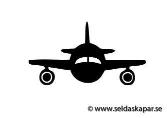 väggvinyl flygplan