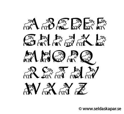älg alfabet