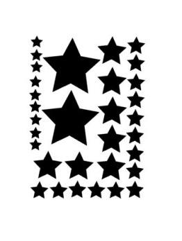 A4 stjärnor blandade storlekar