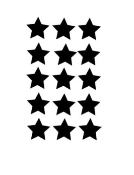 A4 stjärnor 5 cm