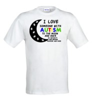 I love some one with autism t-shirt