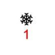 Symboler till julgranskulor - Snöflinga 1 svart