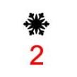 Symboler till julgranskulor - Snöflinga 2 svart