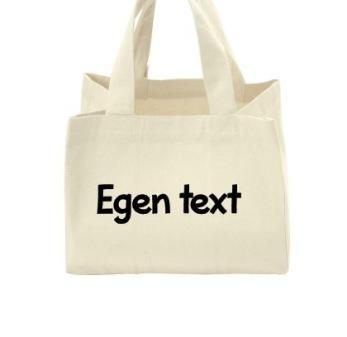 Lunchväska ekologisk natur - Svart text typsnitt 1
