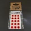 Epoxy eyes - 11mm - FL. Red