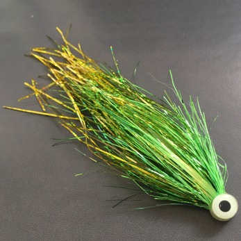 Bauer Pike tube - UV Green/Gold For Wiggletial -