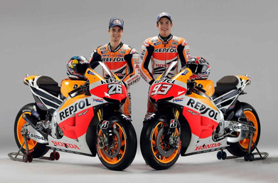 Dani Pedrosa and Marc Marquez's and 2017 bikes. Click for larger image....