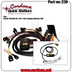 239 - PQ8 Combo Quickshifter Ducati 750/900 SS, 749-1198, Panigale, Monster S4R - 239 - PQ8 Combo Ducati 750/900 SS, 749-1198, Panigale, Monster S4R