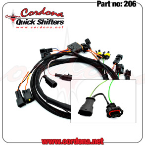 206 - PQ8 Wiring Harness for Ducati 749-1198