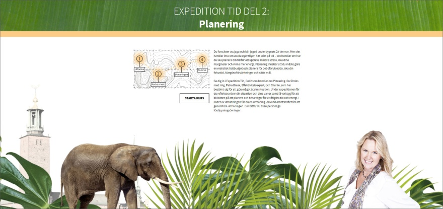 Planering, e-utbildning Expedition Tid, PB & Partners