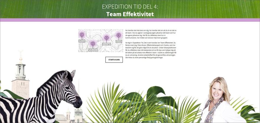 Team Effektivitet, e-utbildning Expedition Tid, PB & Partners