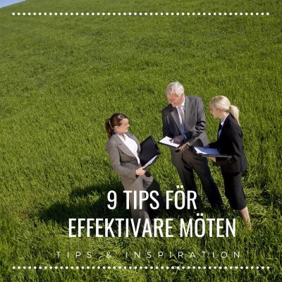 9 tips för effektivare möten, PB & Partners, Tips & Inspiration