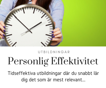 Personlig Effektivitet, Effektivitetsutbildingar, PB & Partners, Petra Brask