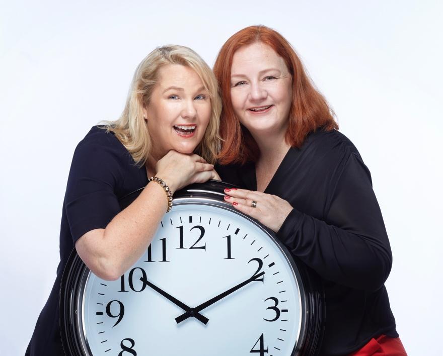 Effektivitetsexpert Petra Brask och Ledarskapsforskare Lena LId Falkman. Fotograf: Peter Knutson