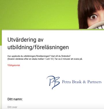 Utvärdering, PB & Partners