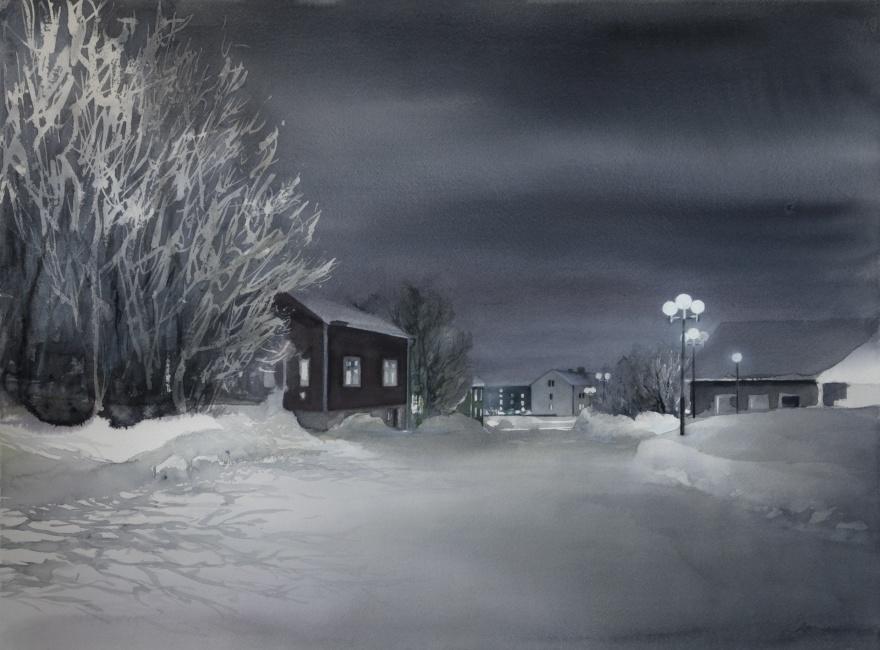 Finngatan, Kiruna 56x76 cm. 2018. Liljevalchs Vårsalong 2019. SÅLD