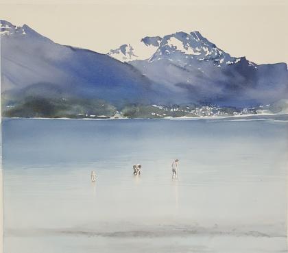 Bjerkvik, Norge. 49x56 cm. 5500 kr