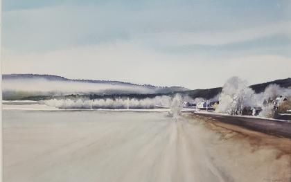 Frost. 35x54 cm. 5500 kr