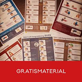 Ladda nerutbildningsfilmer, affischer och kursböcker för HLR och första hjälpen